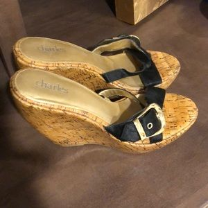 Charles by Charles David cork wedge size 9.5